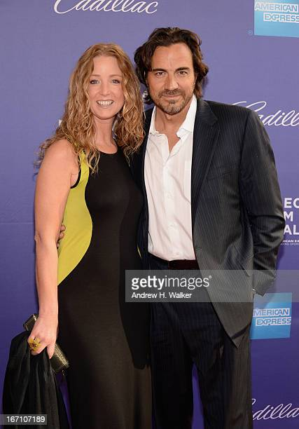 Actress Susan Haskell and actor Thorsten Kaye attends the 'I Got Somethin' To Tell You' World Premiere during the 2013 Tribeca Film Festival on April...