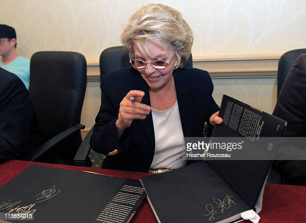 Actress Susan Hayes who plays Julie Williams on the soap Days Of Our Lives signs a new book Days of Our Lives 45 Years a Celebration in Photos at...