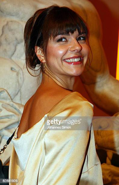Actress Susan Hoecke attends the 'Fabulous Celebration' at Nymphenburg Castle on September 18 2008 in Munich Germany French champagne producer Moet...