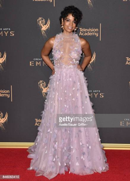 Actress Susan Kelechi Watson arrives at the 2017 Creative Arts Emmy Awards at Microsoft Theater on September 9, 2017 in Los Angeles, California.