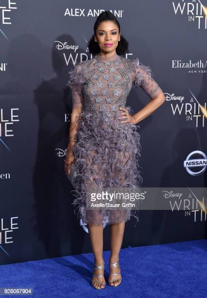 Actress Susan Kelechi Watson arrives at the premiere of Disney's 'A Wrinkle In Time' at El Capitan Theatre on February 26 2018 in Los Angeles...