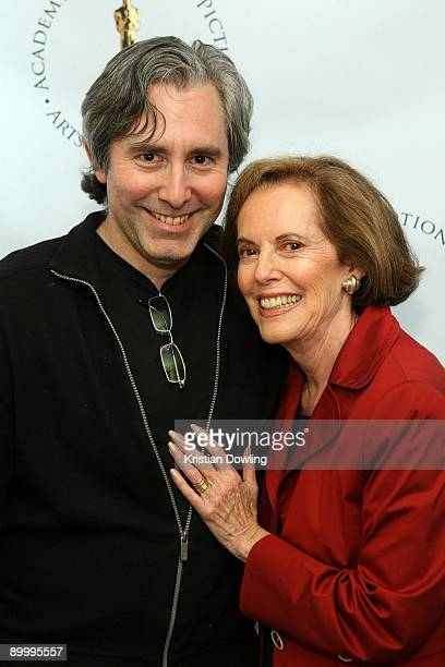 Actress Susan Kohner and son/filmmaker Paul Weitz arrive for AMPAS's Imitation Of Life 50th Anniversary Screening at AMPAS Samuel Goldwyn Theater on...