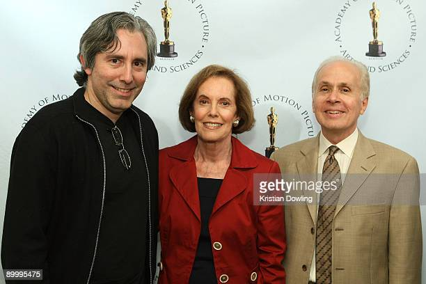 Actress Susan Kohner son/film maker Paul Weitz and film critic Steve Barber arrive for AMPAS's Imitation Of Life 50th Anniversary Screening at AMPAS...