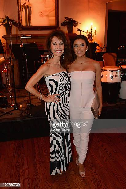 Actress Susan Lucci and executive producer Eva Longoria attend the premiere of Lifetime Original Series Devious Maids after party on June 17 2013 in...