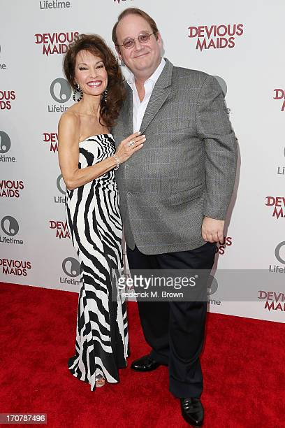"Actress Susan Lucci and executive producer Marc Cherry attend the premiere party of Lifetime Original Series ""Devious Maids"" at the Bel-Air Bay Club..."