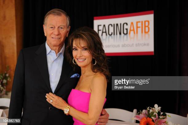 Actress Susan Lucci and husband Helmut Huber attend the Facing AFIB Get Serious About Stroke press conference at Pulse Restaurant on September 23...