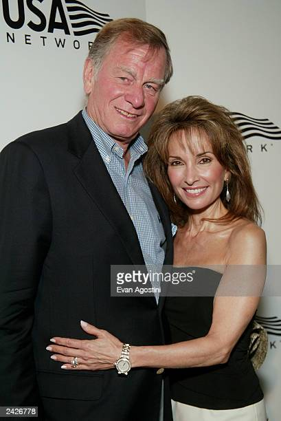 Actress Susan Lucci and husband Helmut Huber attend USA Network's opening night party of the 2003 US Open at Aces Restaurant Arthur Ashe Stadium...