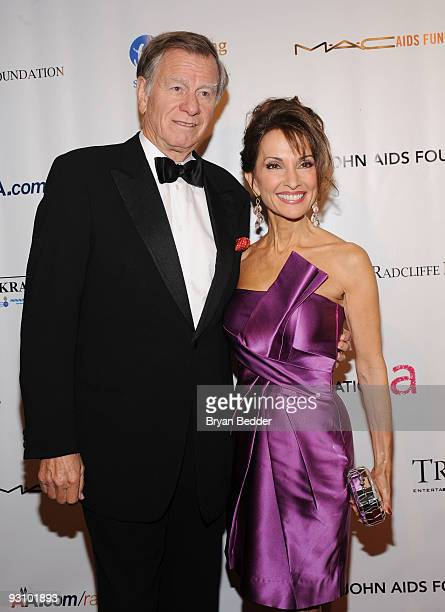 Actress Susan Lucci and producer Helmut Huber attend the 8th Annual Elton John AIDS Foundation�s An Enduring Vision benefit at Cipriani Wall Street...