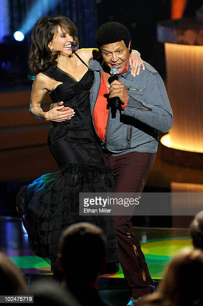 Actress Susan Lucci and singer Chubby Checker perform onstage at the 37th Annual Daytime Entertainment Emmy Awards held at the Las Vegas Hilton on...