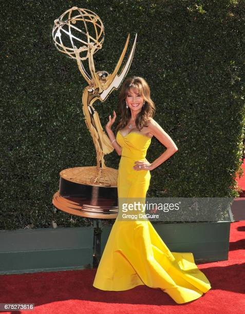 Actress Susan Lucci arrives at the 44th Annual Daytime Emmy Awards at Pasadena Civic Auditorium on April 30 2017 in Pasadena California