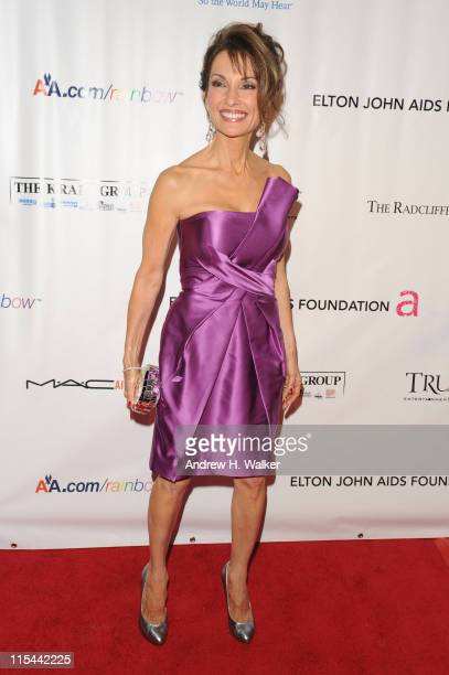 Actress Susan Lucci attends the 8th Annual Elton John AIDS Foundation's 'An Enduring Vision' benefit at Cipriani Wall Street on November 16 2009 in...
