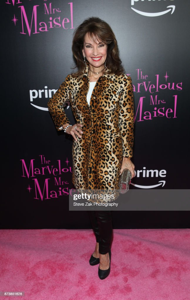 Actress Susan Lucci attends 'The Marvelous Mrs. Maisel' New York Premiere at Village East Cinema on November 13, 2017 in New York City.