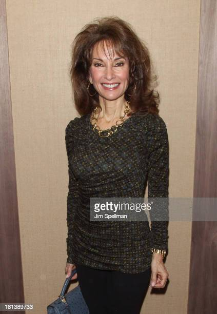 Actress Susan Lucci attends the Spontaneous Construction premiere at Guys American Kitchen Bar on February 10 2013 in New York City