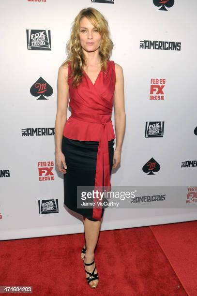 Actress Susan Misner attends 'The Americans' season 2 premiere at the Paris Theater on February 24 2014 in New York City