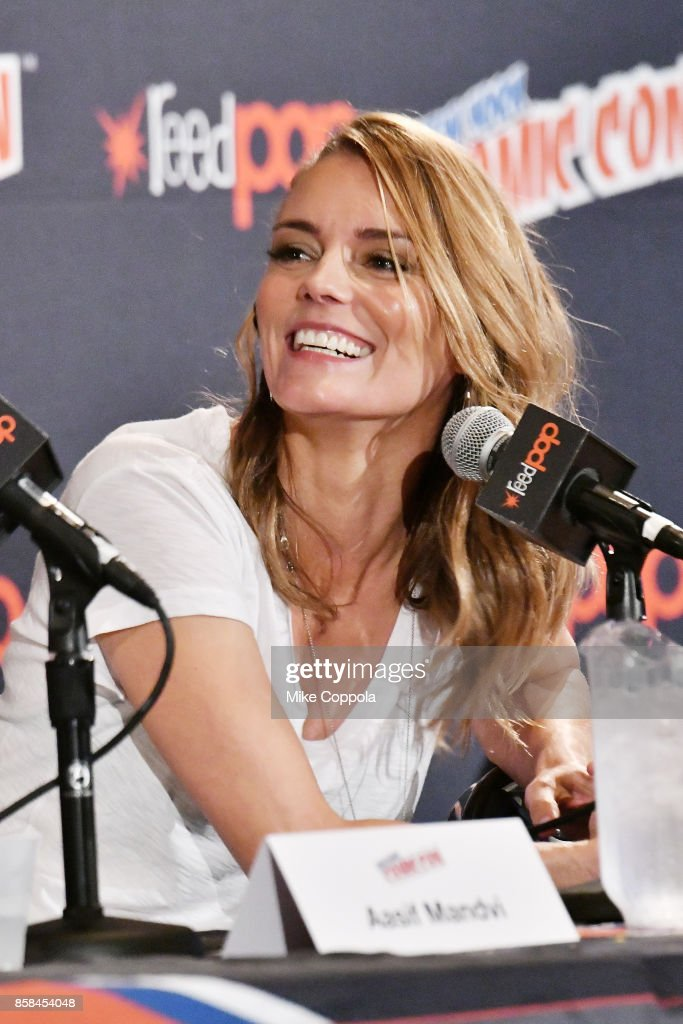 Actress Susan Misner participates in Hulu's Shut Eye panel at New York Comic Con at Jacob Javits Center on October 6, 2017 in New York City.