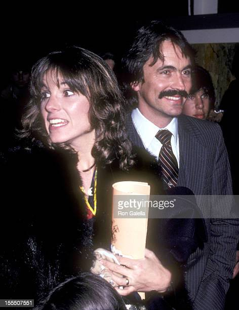 Actress Susan Saint James and boyfriend Bruce Lewis attend the Caveman Beverly Hills Premiere on April 2 1981 at Samuel Goldwyn Theatre in Beverly...