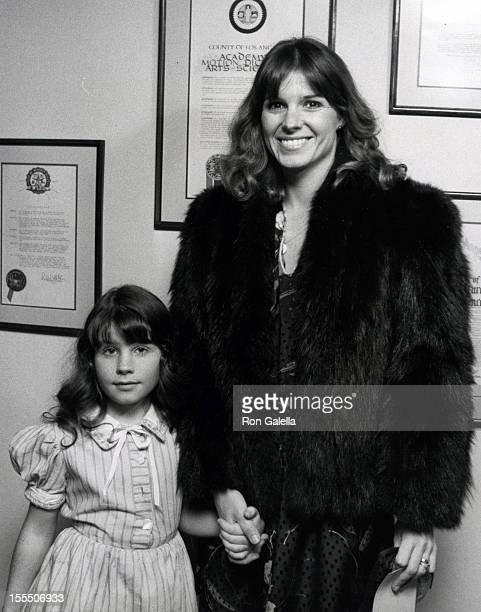 Actress Susan Saint James and daughter Sunshine Lucas attend the screening of Caveman on April 2 1981 at the Academy Theater in Beverly Hills...