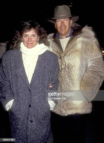 Actress Susan Saint James and television executive Dick Ebersol attend the Tin Men New York City Premiere on February 18 1987 at the Museum of Modern...