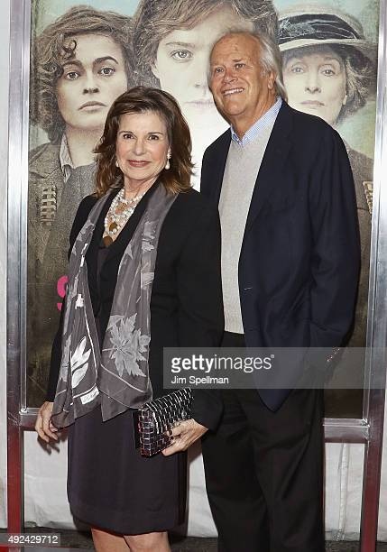 Actress Susan Saint James and TV executive Dick Ebersol attend the Suffragette New York premiere at The Paris Theatre on October 12 2015 in New York...