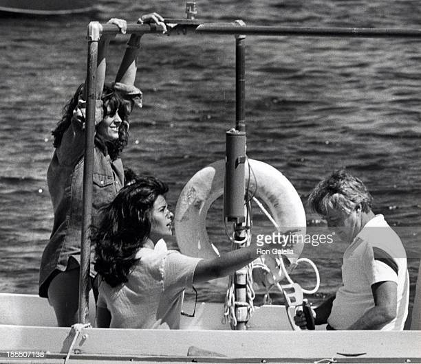 Actress Susan Saint James Maria Shriver and Sargent Shriver sighted on August 21 1981 at the Hyannis Yacht Club in Hyannis Massachusetts