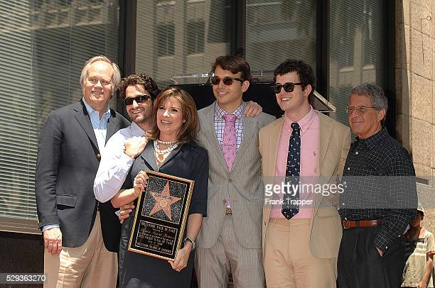 Actress Susan Saint James with her husband Dick Ebersol sons and Ron Meyer pose at the ceremony honoring her with a Star on the Hollywood Walk of Fame