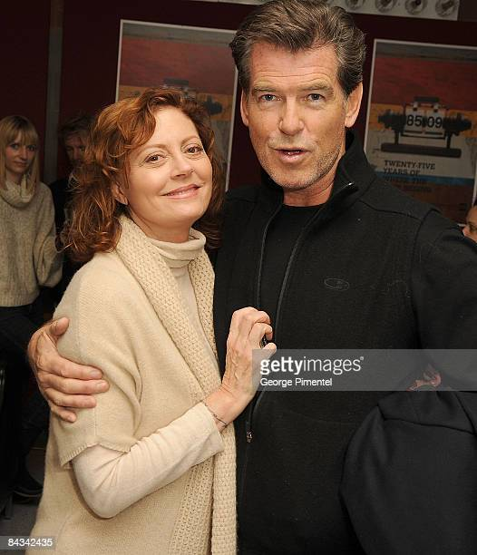Actress Susan Sarandon and actor Pierce Prosnan attend the premiere of The Greatest during the 2009 Sundance Film Festival at Eccles Theatre on...