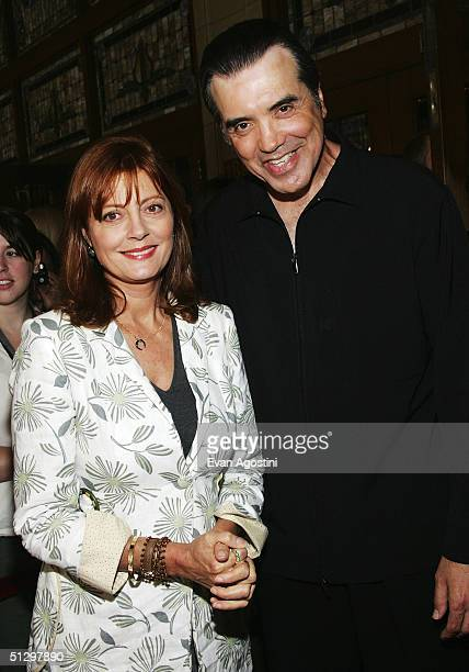 Actress Susan Sarandon and actor/director Chazz Palminteri attend a special screening of 'Noel' at the the Elgin Theatre during the 2004 Toronto...