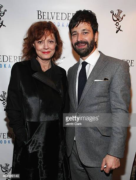 Actress Susan Sarandon and The Box owner Simon Hammerstein attend The Box 8 Year Anniversary Party at The Box on February 18 2015 in New York City