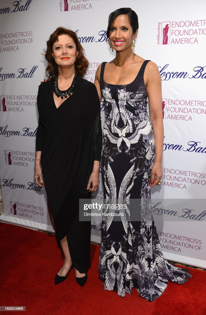 Actress Susan Sarandon and TV Personality Padma Lakshmi attend The Endometriosis Foundation of America's Celebration of The 5th Annual Blossom Ball at Capitale on March 11, 2013 in New York City.
