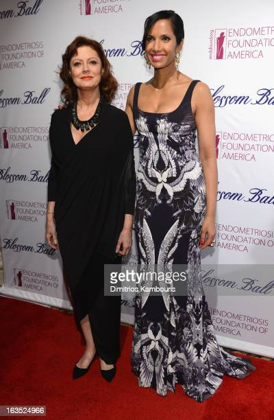 Actress Susan Sarandon and TV Personality Padma Lakshmi attend The Endometriosis Foundation of America's Celebration of The 5th Annual Blossom Ball...