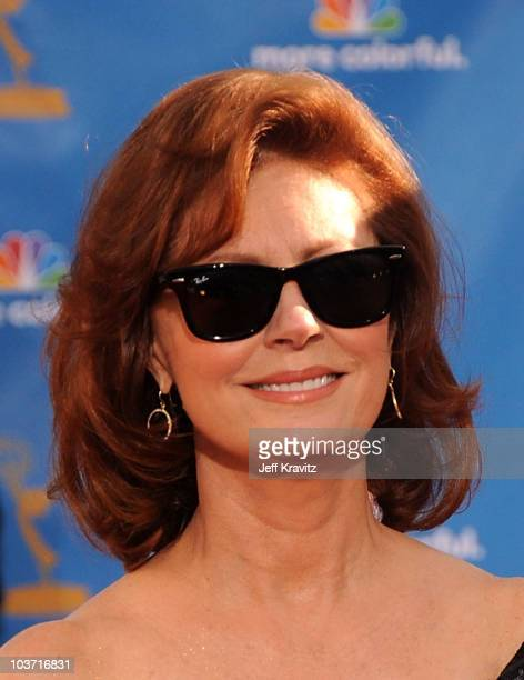 Actress Susan Sarandon arrives at the 62nd Annual Primetime Emmy Awards held at the Nokia Theatre L.A. Live on August 29, 2010 in Los Angeles,...
