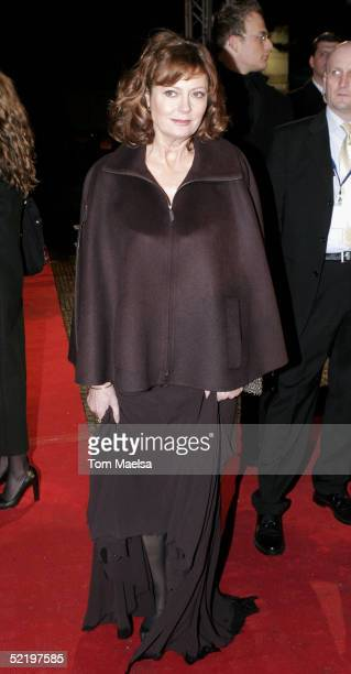 Actress Susan Sarandon arrives at the Cinema For Peace Awards on February 14 2005 in Berlin Germany
