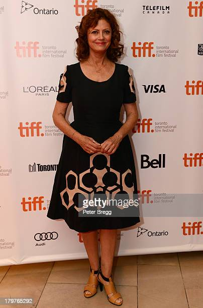 """Actress Susan Sarandon arrives at """"The Last Of Robin Hood"""" premiere during the 2013 Toronto International Film Festival at Isabel Bader Theatre on..."""