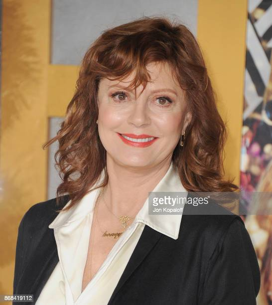 Actress Susan Sarandon arrives at the Los Angeles Premiere of 'A Bad Moms Christmas' at Regency Village Theatre on October 30 2017 in Westwood...