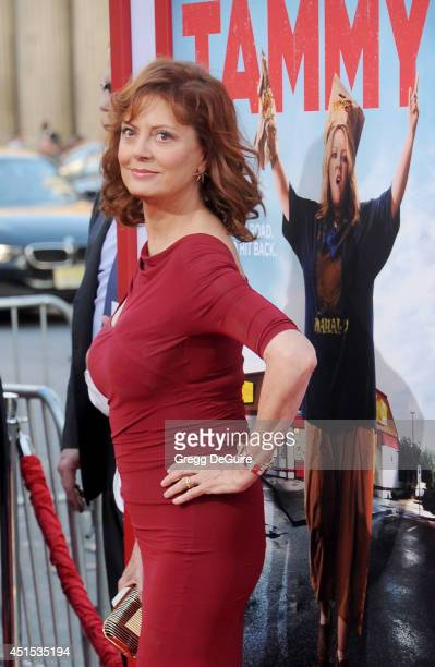 Actress Susan Sarandon arrives at the premiere of 'Tammy' at TCL Chinese Theatre on June 30 2014 in Hollywood California