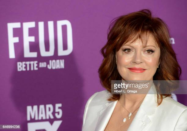 Actress Susan Sarandon arrives for the Premiere Of FX Network's 'Feud Bette And Joan' held at Grauman's Chinese Theatre on March 1 2017 in Hollywood...