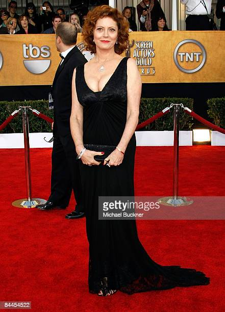 Actress Susan Sarandon arrives to the TNT/TBS broadcast of the 15th Annual Screen Actors Guild Awards at the Shrine Auditorium on January 25 2009 in...