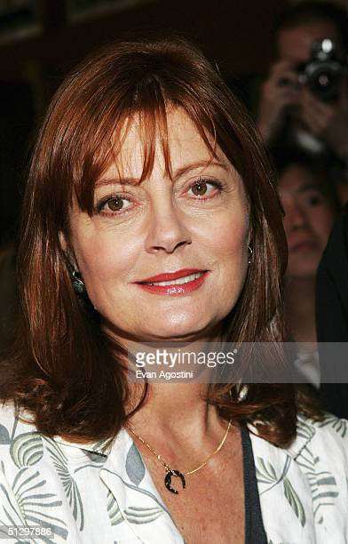 Actress Susan Sarandon attends a special screening 'Noel' at the the Elgin Theatre during the 2004 Toronto International Film Festival on September...