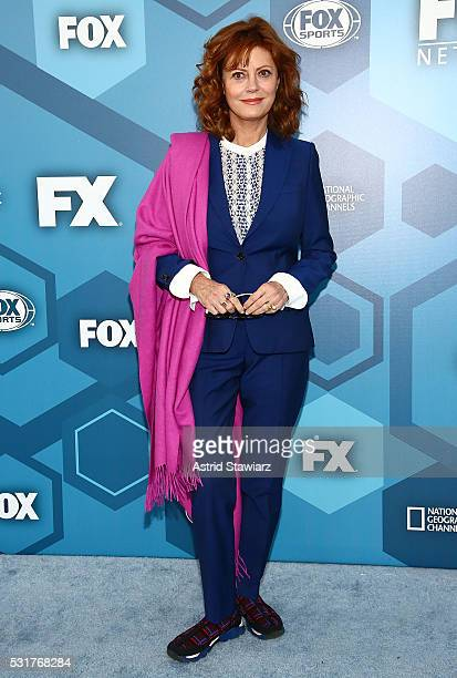 Actress Susan Sarandon attends FOX 2016 Upfront Arrivals at Wollman Rink Central Park on May 16 2016 in New York City