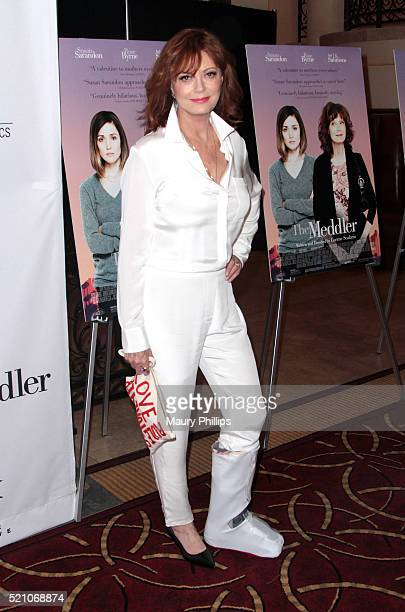 """Actress Susan Sarandon attends Sony Pictures Classics Los Angeles Premiere of """"The Meddler"""" at Pacific Theatre at The Grove on April 13, 2016 in Los..."""