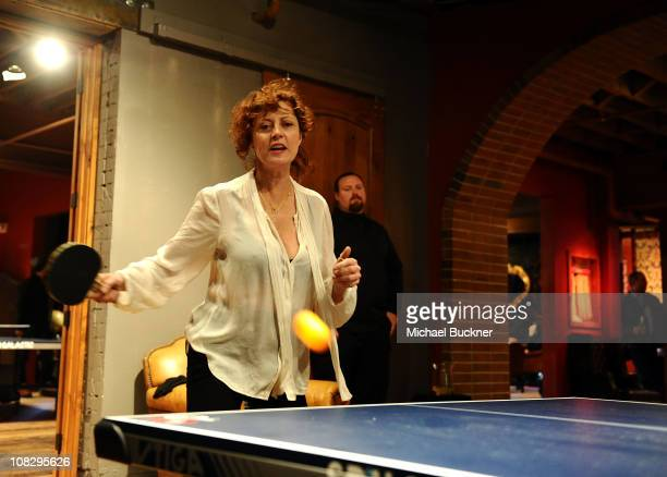 Actress Susan Sarandon attends SPiN Happy Hour At Bing Bar on January 24 2011 in Park City Utah
