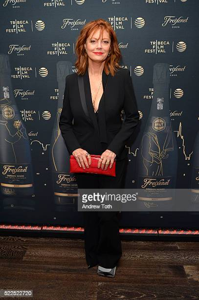 Actress Susan Sarandon attends the 2016 Tribeca Film Festival after party for The Meddler sponsored by Freixenet at Parlor on April 19 2016 in New...