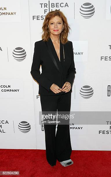 """Actress Susan Sarandon attends the 2016 Tribeca Film Festival- """"The Meddler"""" premiere - at John Zuccotti Theater at BMCC Tribeca Performing Arts..."""