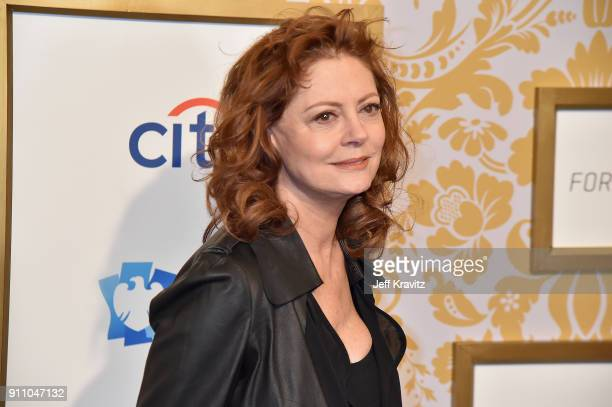 Actress Susan Sarandon attends the 2018 Roc Nation PreGrammy Brunch at One World Trade Center on January 27 2018 in New York City
