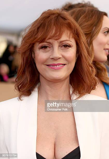 Actress Susan Sarandon attends The 22nd Annual Screen Actors Guild Awards at The Shrine Auditorium on January 30 2016 in Los Angeles California...