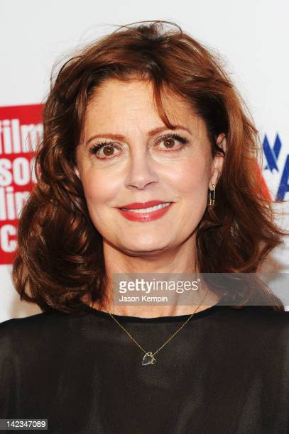 Actress Susan Sarandon attends the 39th Annual Chaplin Award gala at Alice Tully Hall on April 2 2012 in New York City