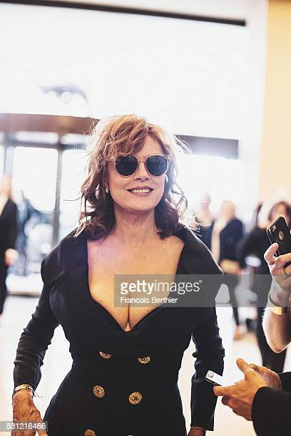 Actress Susan Sarandon attends the 69th annual Cannes Film Festival at Palais des Festivals on May 12 2016 in Cannes France