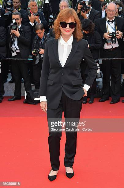 """Actress Susan Sarandon attends the """"Cafe Society"""" premiere and the Opening Night Gala during the 69th annual Cannes Film Festival at the Palais des..."""