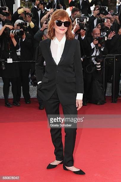 Actress Susan Sarandon attends the Cafe Society premiere and the Opening Night Gala during the 69th annual Cannes Film Festival at the Palais des...