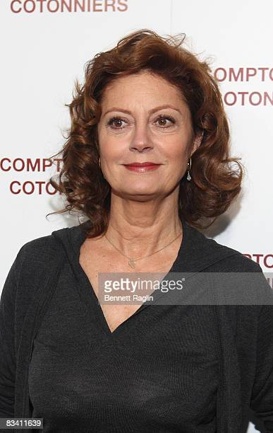 Actress Susan Sarandon attends the Comptoir des Cotonniers store opening on October 23 2008 in New York City